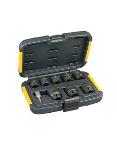 DEWALT Impact Socket Set of 9 Metric 1/2in Drive - DEWDT7507QZ