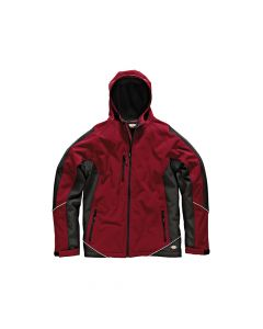 Dickies Two Tone Soft Shell Red / Black Jacket - M (40-42in) - DIC7010RBM