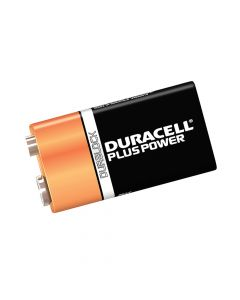 Duracell 9V Cell Plus Power Battery Pack of 1 MN1604/6LR6 - DUR9VK1P