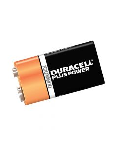 Duracell 9V Cell Plus Power Battery Pack of 2 MN1604/6LR6 - DUR9VK2P