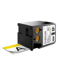 Dymo Pre-Sized Labels Black On White Yellow Header 51 x 102mm (70) - DYM1868714