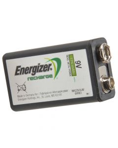 Energizer 9 Volt Rechargeable Power Plus Battery R9V 175 mAh Single - ENGRC9V175