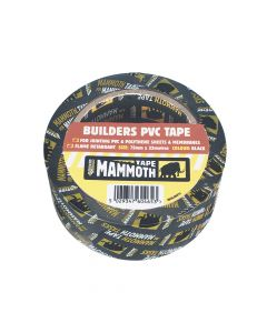 Everbuild Builder's PVC Tape Black 50mm x 33m - EVB2BTBK50