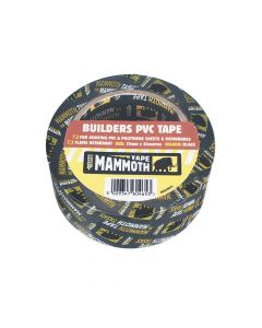 Everbuild Builder's PVC Tape Black 75mm x 33m - EVB2BTBK75
