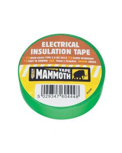 Everbuild Electrical Insulation Tape Green 19mm 33m - EVB2ELECGRN