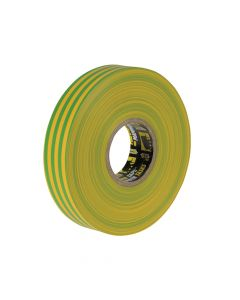 Everbuild Electrical Insulation Tape Yellow/Green 19mm x 33m - EVB2ELECYLGN
