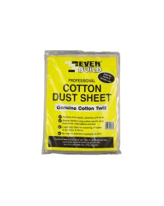 Everbuild Cotton Dust Sheet 3.6 x 2.7m - EVBDUST