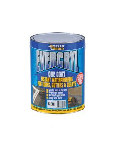 Everbuild Evercryl One Coat Compound, Clear 5kg - EVBEVCC5L