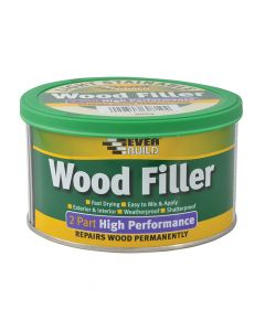Everbuild Wood Filler High Performance 2 Part Light 500g - EVBHPWFL500