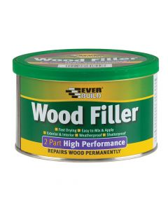 Everbuild Wood Filler High Performance 2 Part Medium Stainable 500g - EVBHPWFM500G
