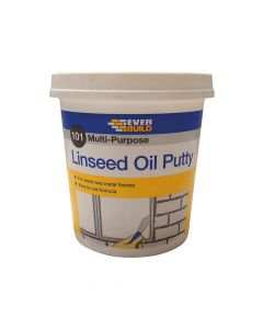 Everbuild 101 Multi-Purpose Linseed Oil Putty, Natural 1kg - EVBMPPN1KG