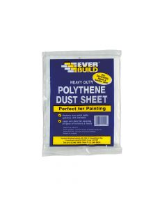 Everbuild Polythene Dust Sheet 3.6 x 2.7m - EVBPOLYDS129