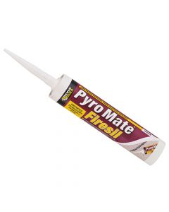 Everbuild Pyro Mate Firesil White 295ml - EVBPRYWE
