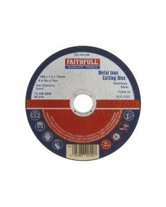 Faithfull Metal Cut Off Disc 100 x 1.2 x 16mm - FAI10012M