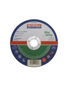 Faithfull Stone Cut Off Disc 100 x 3.2 x 16mm - FAI1003S