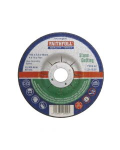 Faithfull Depressed Centre Stone Cut Off Disc 100 x 3.2 x 16mm - FAI1003SDC
