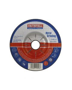 Faithfull Depressed Centre Metal Grinding Disc 100 x 5 x 16mm - FAI1005MDG