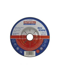 Faithfull Depressed Centre Metal Grinding Disc 100 x 6.5 x 16mm - FAI1006MDG