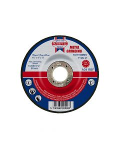 Faithfull Depressed Centre Metal Grinding Disc 115 x 6.5 x 22mm - FAI1156MDG