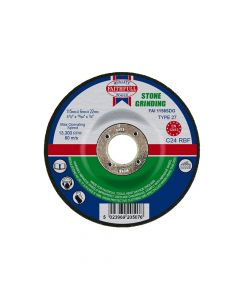 Faithfull Depressed Centre Stone Grinding Disc 115 x 6 x 22mm - FAI1156SDG
