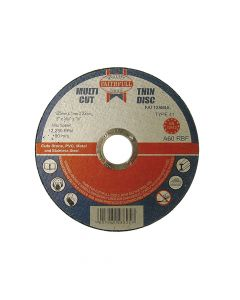 Faithfull Multi-Cut Cutting Discs 125 x 1.0 x 22mm (Pack of 10) - FAI12510MUL