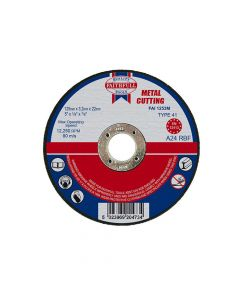 Faithfull Metal Cut Off Disc 125 x 3.2 x 22mm - FAI1253M