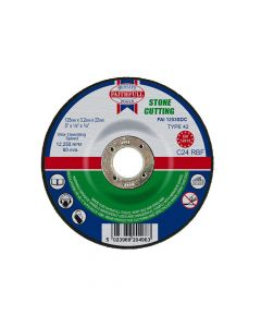 Faithfull Depressed Centre Stone Cut Off Disc 125 x 3.2 x 22mm - FAI1253SDC