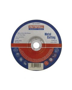 Faithfull Depressed Centre Metal Cut Off Disc 180 x 3.2 x 22mm - FAI1803MDC