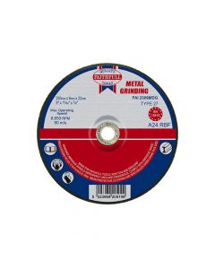 Faithfull Depressed Centre Metal Grinding Disc 230 x 6.5 x 22mm - FAI2306MDG