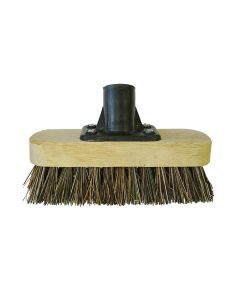 Faithfull Deck Scrub Broom Head 175mm (7in) Threaded Socket - FAIBRDECKSCR