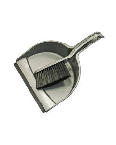 Faithfull Dustpan & Brush Set Plastic (220mm) - FAIBRDUSTSET