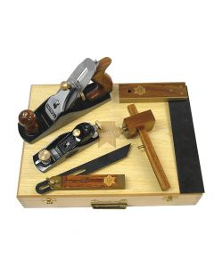 Faithfull Carpenters Tool Kit 5 Piece in Wooden Box - FAICARPSET