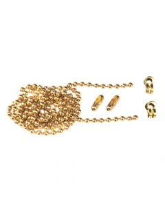 Faithfull Brass Ball Chain Kit 1m Polished Brass - FAICHBALLPB1