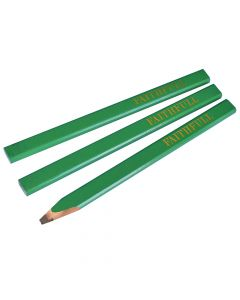 Faithfull Carpenter's Pencils - Green / Hard (Pack of 3) - FAICPG