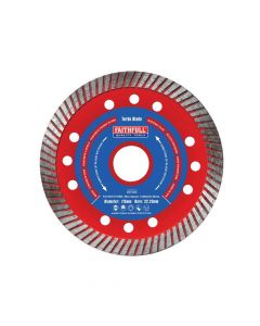 Faithfull Turbo Cut Diamond Blade 115 x 22mm - FAIDB115TURB