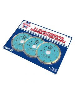 Faithfull Contract Diamond Blade Set of 3 115 x 22.2mm - FAIDBSET3C