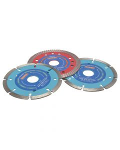 Faithfull Diamond Blade Set of 3 - Mixed 115mm - FAIDBSET3CT