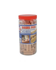 Faithfull Wood Dowels Fluted 40 x 10mm (Tub 100) - FAIDOW10100T