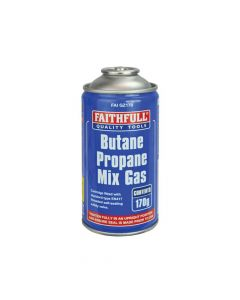 Faithfull Butane Propane Gas Cartridge 170g - FAIGZ170
