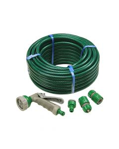 Faithfull PVC Reinforced Hose 15m Fittings & Spray Gun - FAIHOSE15AV