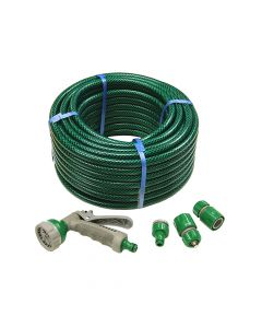 Faithfull PVC Reinforced Hose 30m Fittings & Spray Gun - FAIHOSE30AV