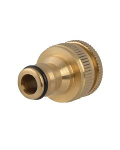 Faithfull Brass Dual Tap Connector 12.5 - 19mm (1/2 - 3/4in) - FAIHOSETC