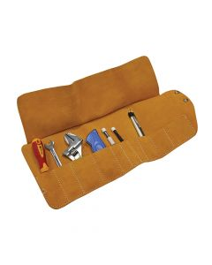 Faithfull 10 Pocket Leather Tool Roll 48 x 27cm - FAILTR10