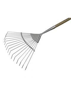 Faithfull Prestige Stainless Steel Lawn Rake Ash Handle - FAIPRESLRSS