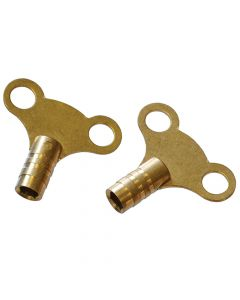 Faithfull Radiator Keys - Brass (Pack of 2) - FAIRADKEY