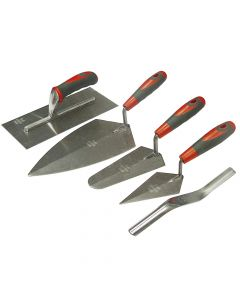 Faithfull Soft Grip Handle Trowel Pack 5 Piece - FAISGTSET5
