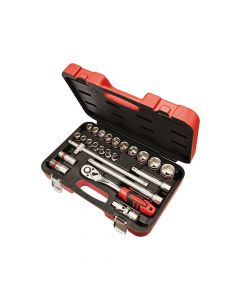 Faithfull Socket Set of 24 Metric 1/2in Square Drive - FAISOC1224M