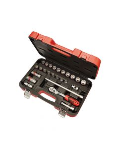 Faithfull Socket Set of 25 Metric 3/8in Square Drive - FAISOC3825M