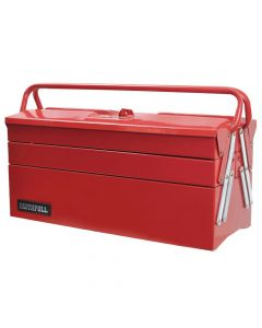 Faithfull Metal Cantilever Toolbox - 5 Tray 40cm (16in) - FAITBC517