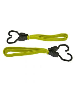 Faithfull Flat Bungee Cord 90cm (36in) Yellow 2 Piece - FAITDBUNG36